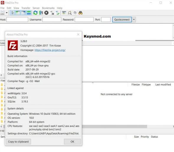 FileZilla Key